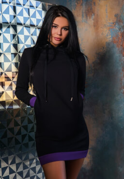 BonaGonna Dress Black  Violet