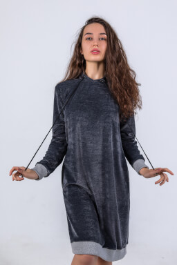 BonaGonna Dress Dark Gray Velur